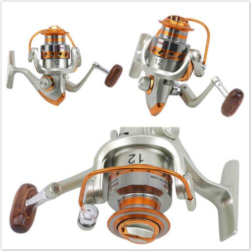Fishing Coil Wooden Handshake Spinning Fishing Reel Fishing Reel Wheels Metal FB