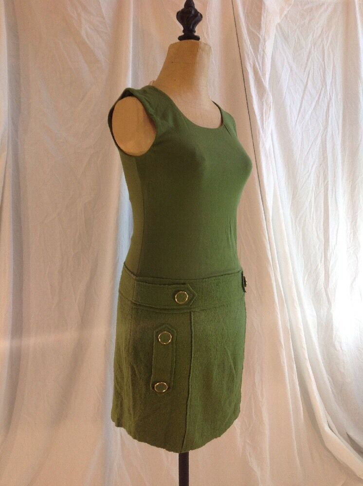 BAILEY 44 WOMENS SZ S DRESS ANTHROPOLOGIE GREEN & gold NWOT
