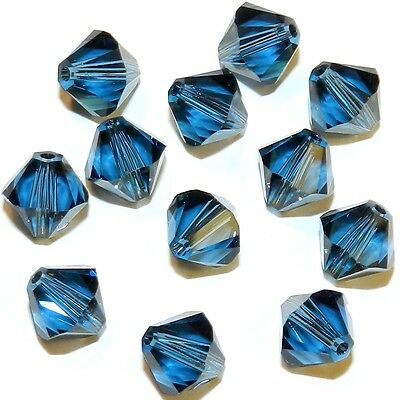 12pc Swarovski Crystal Graphite Bicone 5328 Beads; 4mm or 6mm 24pc