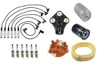 Mercedes W126 300se 88-91 Tune Up Kit Wire Set Spark Plugs Cap Rotor Filters on sale
