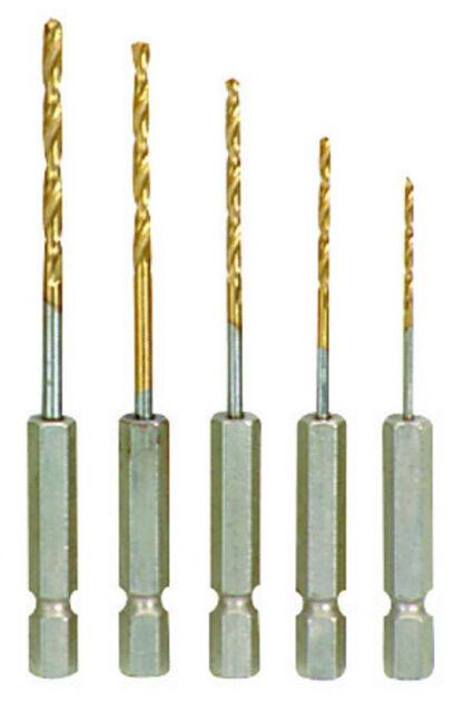 """HSS Quality Titanium Metal Drill Bit 1/4"""" HEX Shank 1.5mm 2.5mm 3.2mm 4mm 4.8mm"""