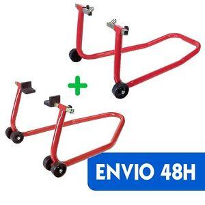 JUEGO-de-caballetes-para-moto-DELANTERO-y-TRASERO-universal-elevador-ENVIO-48H