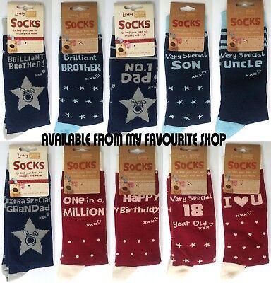 Boofle Bestest Grandad Ever Socks UK Size 8-11 Mens Adults