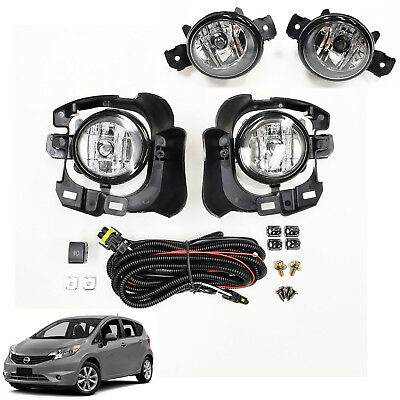 For 2017-2018 Nissan Versa Note Hatch Fog Driving Light Kit w// Wire Switch Relay