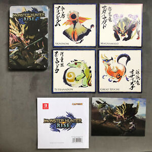 Monster Hunter Rise Capcom Nintendo Switch steelbook 4 Collectible Cards 3D Card