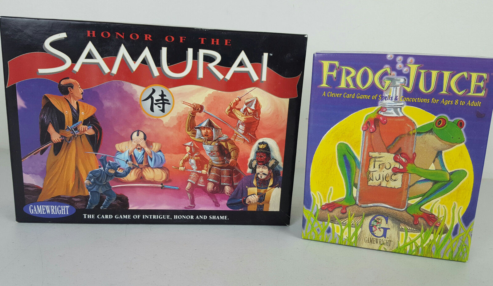 Lot of Two Gamewright Card Games Frog Juice and Honor of the Samurai Complete
