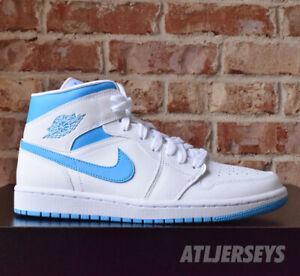 Details about Nike Air Jordan 1 Mid UNC White Powder Blue BQ6472-114 Womens  Size