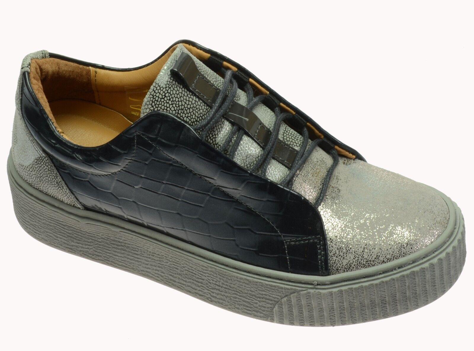 En ligne Shoes 5134-6 Grey max/prk-3009/pat. Baskets made made made in Portugal Véritable Cuir 91c562