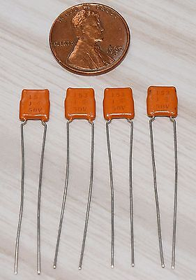 4 Sprague .015uf 50V //-5/% Dipped Monolithic Ceramic Capacitors NOS Guitar tone