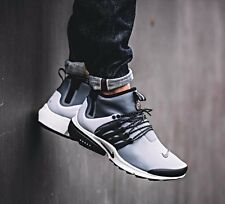 Nike Air Presto Utility UK Size 10 EUR 45 Mens Trainers Shoes Black White Grey
