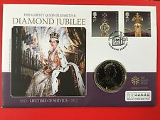 2012 Royal Mint Queen Elizabeth II Diamond Jubilee £5 Coin First Day Cover