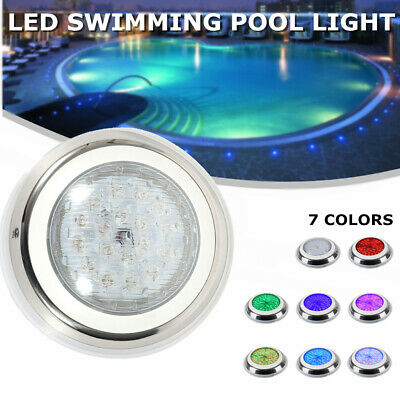 54W Swimming Pool Light Color-change LED RGB Stainless Steel  IP68+Controller USA | eBay