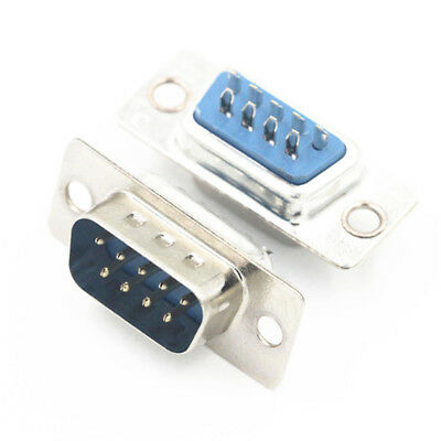 2x RS232 DB9 9-Pin Female Connector Serial Port Solder Cup Socket Assembly