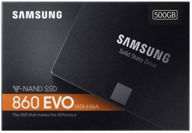 "Samsung 860 EVO 500GB 2.5"" Internal (MZ76E500BAM) 6Gb/s SATA III SSD -"