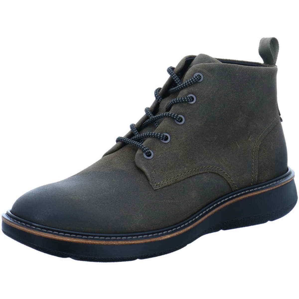 Ecco Boot Aurora grey green tarmac Leder 538234 05543 leichte flexible Sohle