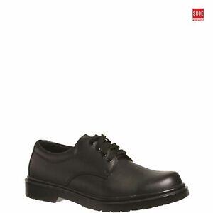 Grosby HAMBURG JNR 2 Black Boys Shoe School Leather School Shoes
