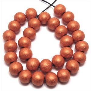 Lot de 40 perles rondes en Bois 10mm Marron Orangé