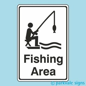 Fishing Area Signs