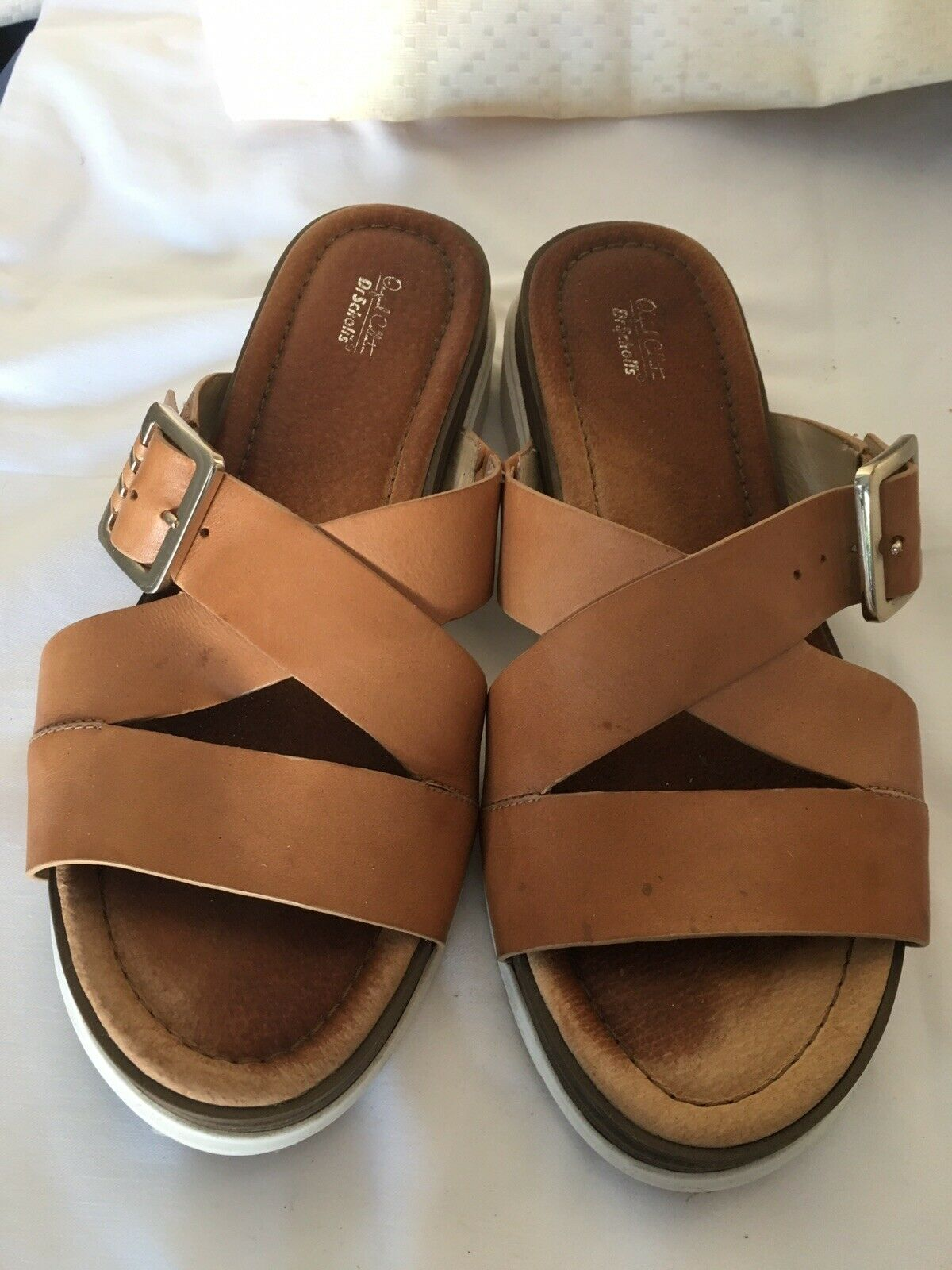 Dr. Scholls Original Collection Womens brown leather Sandal Sz 8.5