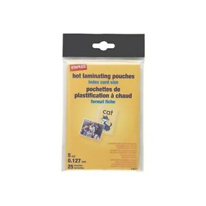 Staples-5-mil-Index-Card-Size-Thermal-Laminating-Pouches-25-pack-489534
