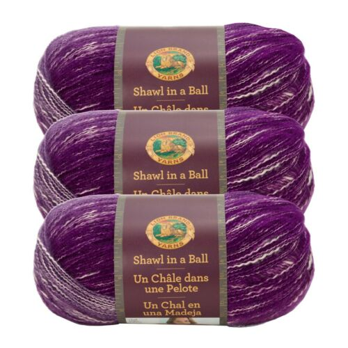Mindful Mauve Pack of 3 skeins Lion Brand Yarn 828-203 Shawl in a Ball Yarn