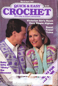 Quick-amp-Easy-Crochet-Magazine-Mar-Apr-1997-Baby-Gifts-Dinky-the-Dinosaur