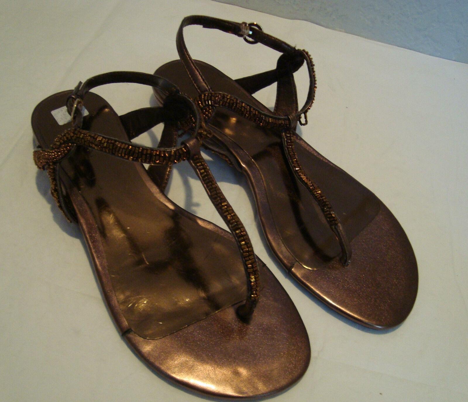 Nine West Damenschuhe Angiola Bronze Sandales Schuhes 8 Medium Display Model