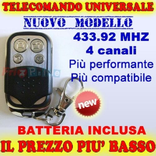 Universal All APRICANCELLO x Remote control gates to 433mhz and fixed code W