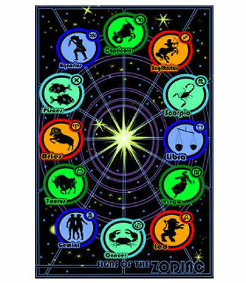 23X35 FLOCKED A-17LM SIGNS OF THE ZODIAC BLACKLIGHT POSTER