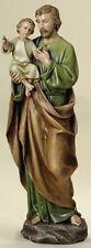 """Sale! 14"""" Saint Joseph w/ Child Jesus St. Halo Statue Figruine Shepherd Good"""