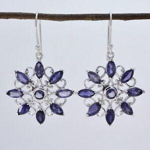 grand-Iolite-925-Sterling-Silver-Blue-Earring-Natural-gemstones-CA-gift