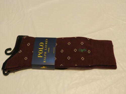 Polo Ralph Lauren 2 pair dress casual socks Men/'s wine maroon 899580PK NEW pack