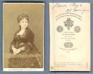 Marie Roze Opera Comique CDV Vintage Albumen Carte