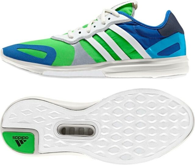 on sale 43d0a 4aa88 Womens ADIDAS YVORI Blue Green Running Trainers UK 5 BRAND NEW