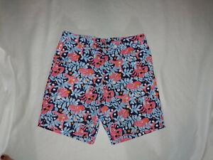 Men-Lilly-Pulitzer-Everglades-Navy-Blue-Fish-Crab-Shell-Bermuda-Shorts-Size-36