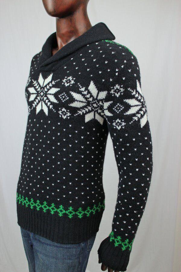 Ralph Laruen POLO Snowflake Shawl Collar Sweater NWT