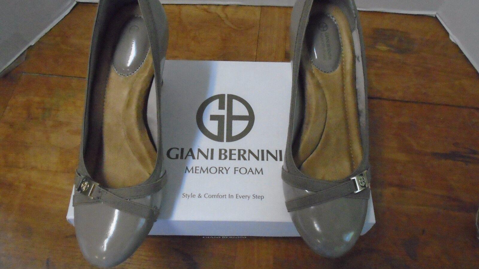 Giani Bernini Memory Foam Women's shoes New 8 1 2 Tan Heel Vollettbrn Dark Taupe