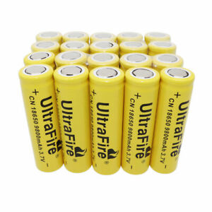 20X-18650-Li-ion-Battery-9800mAh-3-7V-Rechargeable-Flat-Top-Batteries-for-Torch
