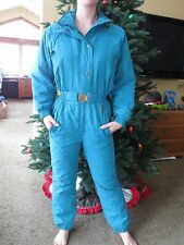 JUPA SPORTS Women's 1-pc Ski Snowboarding Snow Suit Teal Olympic label Size 6