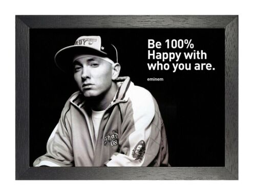 Eminem 1 Photo Gangster Rap Hip Hop Picture Inspirational Quote Music Poster