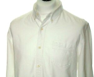 Timberland-Mens-Shirt-Large-Casual-Long-Sleeve-Button-Down-Gents-Top-White