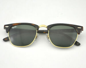 3cac37fd36e New Ray Ban Clubmaster RB3016 W0366 Mock Tortoise w Green G-15 49mm ...