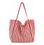miniature 19 - Women-Large-Canvas-Shopping-Bag-Fashion-Striped-Cloth-Reusable-Tote-Bag