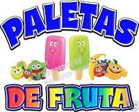 Paletas Popsicles Fruit Concession Cart Food Truck Van Decal 14 Vinyl Menu