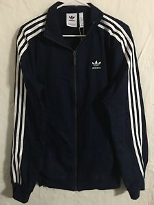 6f353793b5ae0 adidas Co Woven Navy Blue Track Top Jacket Mens Size Small NEW ...