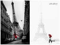 Au Revoir La Veste Rouge 2 Individual Posters Paris Europe Eiffel Tower Red