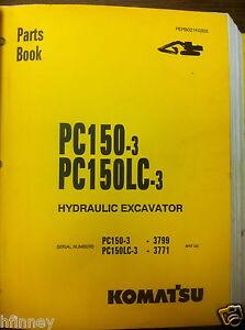 komatsu pc150 3 pc150lc 3 hydraulic excavator parts manual book new rh ebay com Komatsu Excavator Parts Komatsu Excavator Parts Manual