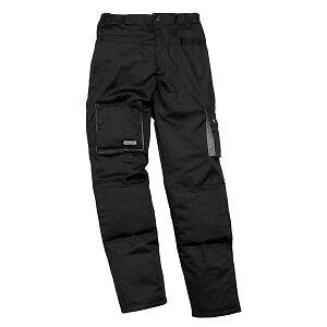Pantaloni-da-Lavoro-felpato-Nero-grigio-Multitasche-Panoply