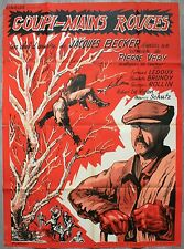 GOUPI MAIN ROUGE Affiche Cinéma / Movie Poster Jacques Becker 160 x 120