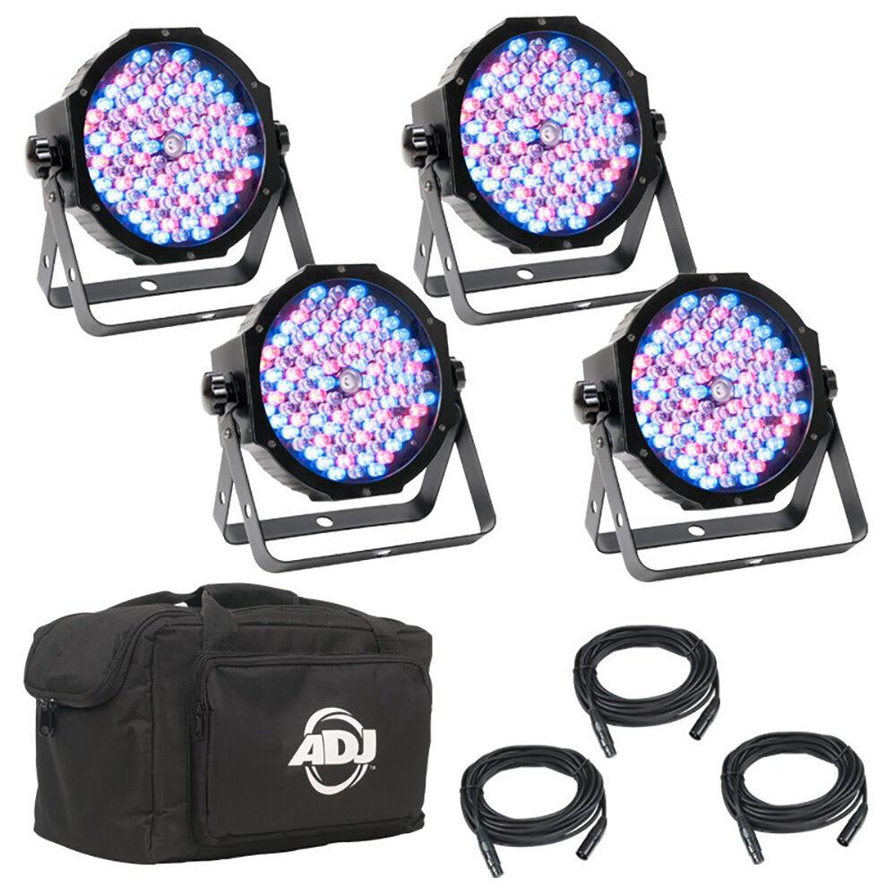 ADJ Mega Flat Pak Plus 4x LED Beleuchtung Pars DMX Kabel Soft Bag, OPEN BOX
